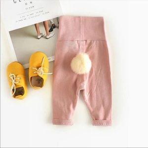 Baby Girl Bunny Tail Pants - Pink